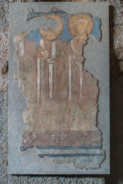 Świątynia Portunusa, freski dawnego wystroju kościoła z czasów średniowiecza