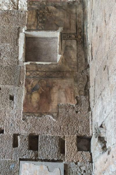 Świątynia Portunusa, pozostałości fresków dawnego kościoła