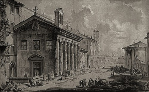 View of the Church of St. Mary of Egypt, designed by Piranesi