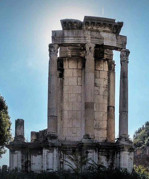 Świątynia Westy, Forum Romanum, pozostałości budowli z 191 r.