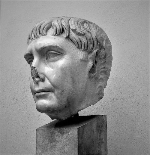 Head of Emperor Trajan, Museo Ostia Antica