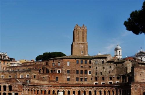 Remains of market halls of Emperor Trajan at the former Forum of Trajan