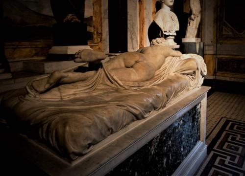 Antique sculpture of a Hermaphrodite, Galleria Borghese