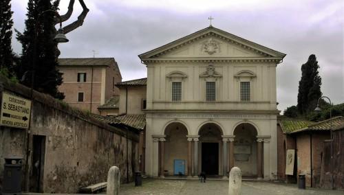 Bazylika św. Sebastiana za Murami (San Sebastiano fuori le mura), zmodernizowana na zlecenie Scipione Borghesego