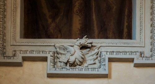 Element of the Borghese coat of arms in the Santa Silvia Oratory on Celio Hill