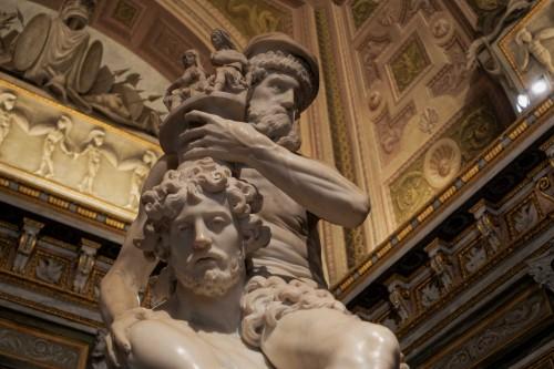 Eneasz, Anchizes i Askaniusz w trakcie ucieczki z Troi, Gian Lorenzo Bernini, Galleria Borghese