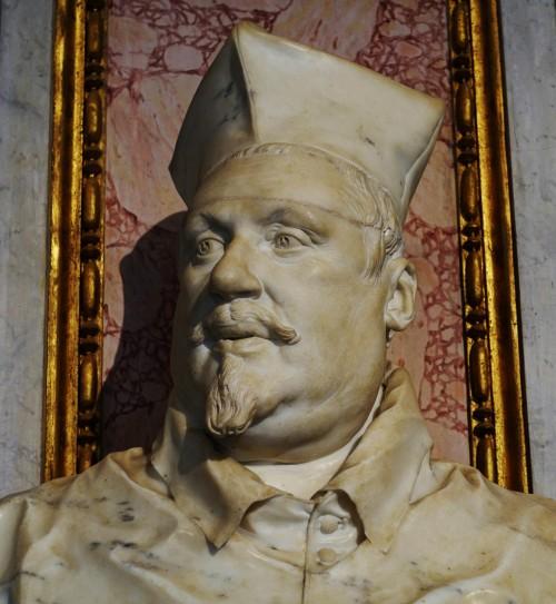 Cardinal Scipione Borghese, Gian Lorenzo Bernini, Galleria Borghese (an alternate version with a scar on the forehead)