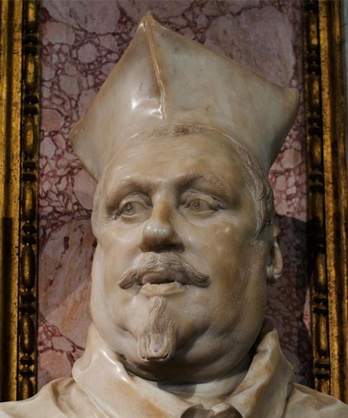 Kardynał Scipione Borghese, popiersie, Gian Lorenzo Bernini, Galleria Borghese