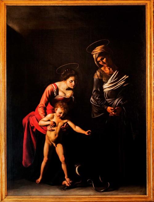 Madonna z Jezusem i św. Anną (Madonna dei Palafrenieri), Caravaggio, Galleria Borghese