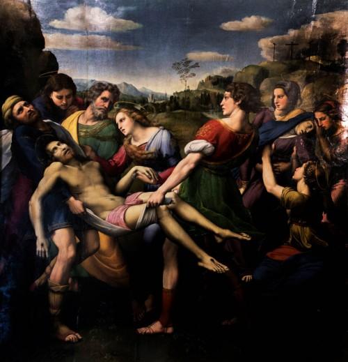Złożenie do grobu, Rafael (Raffaello Sanzio), Galleria Borghese