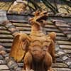 Element of decorations of park and building – dragon (heraldic creature of the Borghese family)