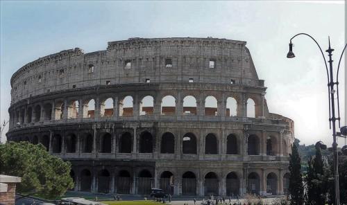 Colosseum seen from via dei Fori Imperiali