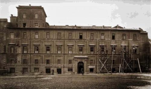 Palazzo Rusticucci przy Piazza Rusticucci przed zniszczeniem spiny del Borgo