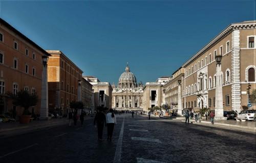 Via della Conciliazione, widok na bazylikę św. Piotra