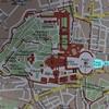 Mapa ukazująca via della Conciliazione i Piazza Pio XII - powstałe z dawnej spiny del Borgo