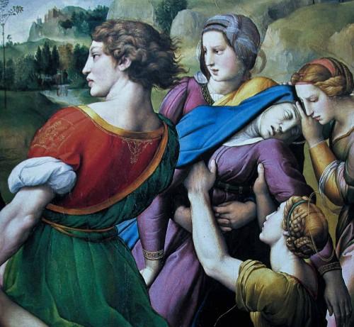 Złożenie do grobu, fragment, Rafael, Galleria Borghese