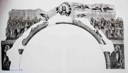 Mozaiki z tęczy w bazylice San Paolo fuori le mura, niezachowane, rekonstrukcja wg H. Brandenburga