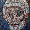 Remains of a mosaic in the triumphal arch of the Basilica of San Paolo fuori le mura, Head of St. Peter, Vatican Grottoes