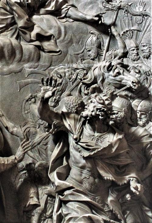 Attyla fragment ołtarza, Alessandro Algardi, XVII w., bazylika San Pietro in Vaticano