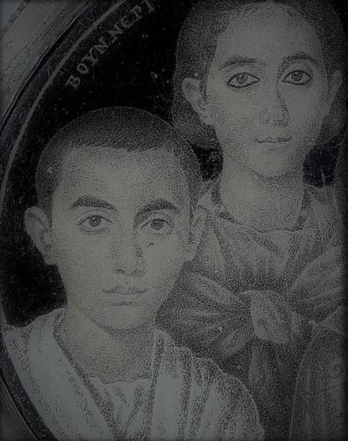Domniemany portret cesarza Walentyniana III w wieku młodzieńczym i jego siostry Honorii, zdj.Wikipedia
