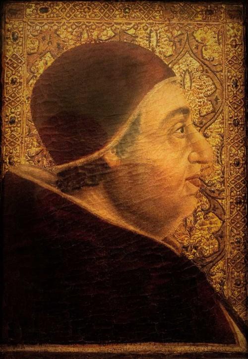 Portret papieża Aleksandra VI, Pedro Berruguete, Pinacoteca Vaticana - Musei Vaticani