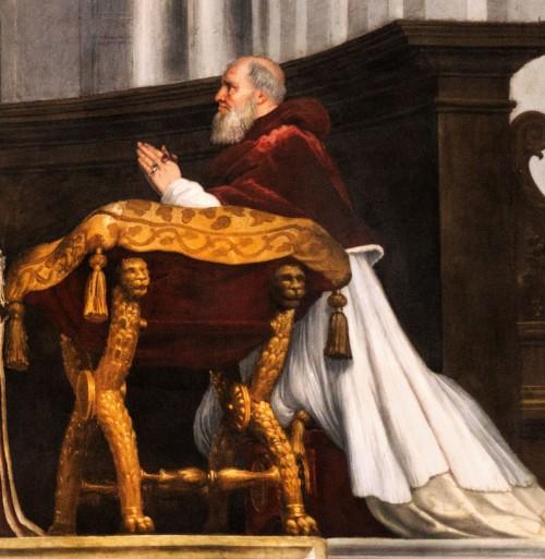 Portret  papieża Juliusza II, apartamenty papieskie (Stanze Rafaela) w pałacu Apostolskim