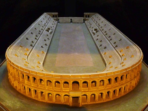 Model stadionu Domicjana, Museo Stadio di Domiziano, Piazza Navona