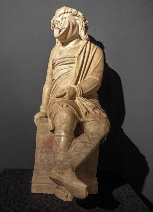 Posążek przedstawiający rzymskiego aktora, Musei Vaticani
