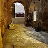Fragment ekspozycji muzealnej w ruinach dawnego stadionu Domicjana, Museo Stadio di Domiziano, Piazza Navona
