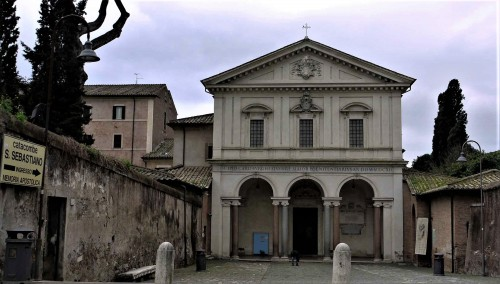 Fasada kościoła San Sebastiano al catacombe