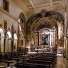 Kościół Santa Prisca, widok nawy głównej i bocznej