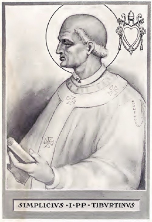 Alleged portrait of Pope Simplicius, pic. Wikipedia