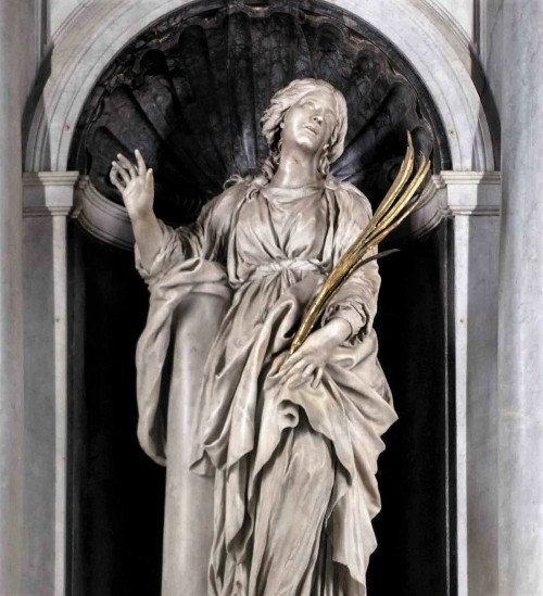 Saint Bibiana, the main altar in the Church of Santa Bibiana, Gian Lorenzo Bernini