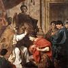 Cesarz Teodozjusz I chrzczony przez biskupa Ambrożego, Pierre Subleyras, zdj. Wikipedia