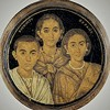 Alleged portrait of Emperor Valentinian II in his youth with his mother Galla Placidia and sister Honoria, pic. Wikipedia