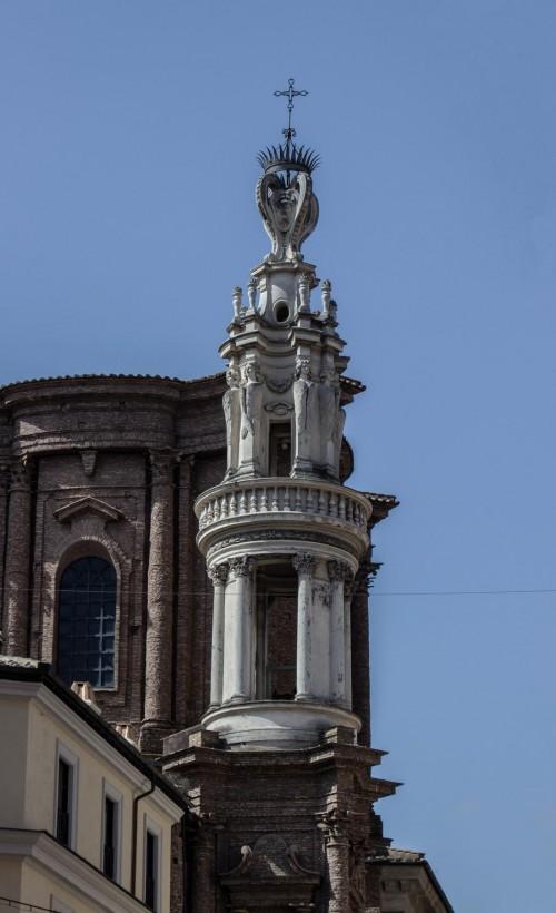 Francesco Borromini, Basilica of Sant'Andrea delle Fratte, bell tower