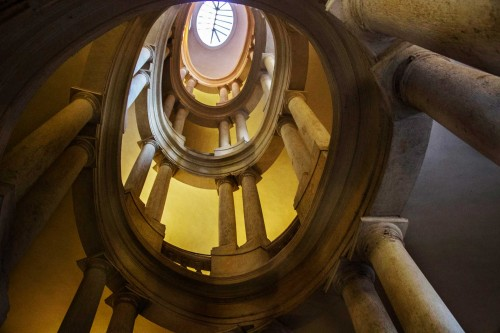 Francesco  Borromini, Palazzo Barberini, helicoidal staircase (Scala Elicoidale)