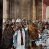 Spalenie pism ariańskich na soborze w Nicei, fresk Carlo Mannoniego, baptysterium San Giovanni in Laterano