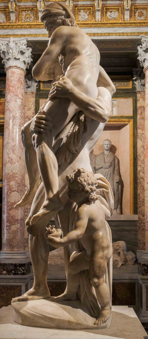 Gian Lorenzo Bernini, Aeneas, Anchises and Ascanius Fleeing Troy, Galleria Borghese