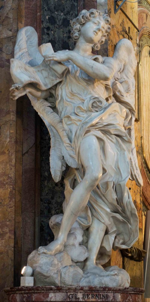 Gian Lorenzo Bernini, figure of an angel in the Church of Sant'Andrea delle Fratte