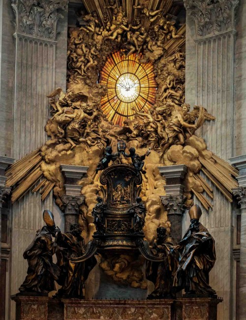 Gian Lorenzo Bernini, main altar of the so-called St. Peter's Cathedral, Basilica of San Pietro in Vaticano