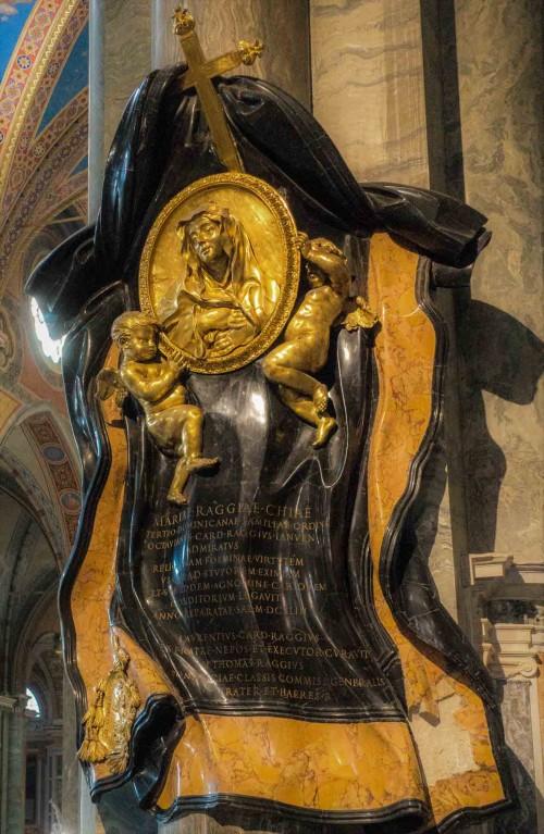 Gian Lorenzo Bernini, pomnik nagrobny Marii Raggi, bazylika Santa Maria sopra Minerva