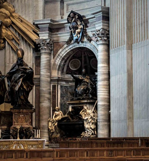 Gian Lorenzo Bernini, tomb of Pope Urban VIII, Basilica of San Pietro in Vaticano