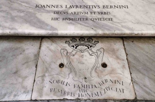 Tombstone of the Bernini family near the main altar, Basilica of Santa Maria Maggiore