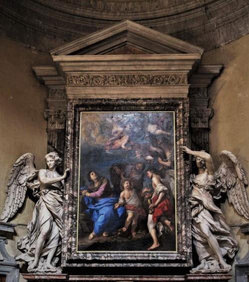 Antonio Raggi, Angels in the altar of the transept of the Basilica of Santa Maria del Popolo