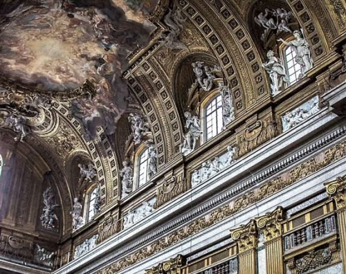 Antonio Raggi, dekoracje stiukowe w kościele Il Gesù