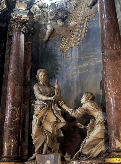Antonio Raggi, grupa Noli me tangere, kościół Santi Domenico e Sisto
