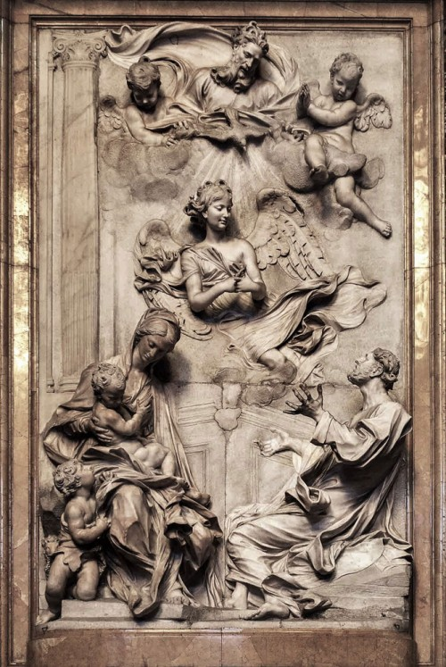 Antonio Raggi, ołtarz główny w kaplicy Ginettich, kościół Sant'Andrea della Valle