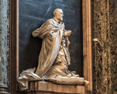 Antonio Raggi, posąg kardynała Maurizio Ginettiego w kaplicy Ginettich, kościół Sant'Andrea della Valle