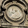 Antonio Raggi, one of the medallions on the façade depicting Pope Sixtus IV, Church of Santa Maria della Pace